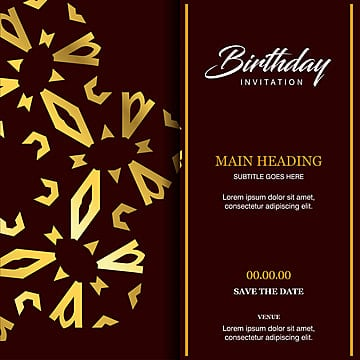Birthday Card Design Png Images Vectors And Psd Files Free