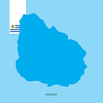 uruguay country map with flag over blue background, 25, 25th, August PNG and Vector