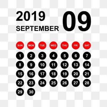 Calendario Settembre2020.Settembre Del Calendario Immagini Png Vettori E File Psd