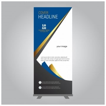 Business Roll Up Standee Design Banner Template Presentation Png And