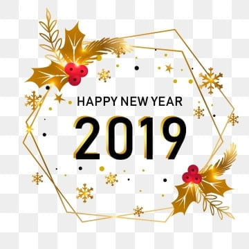 new year golden style png psd, , New Year, Happy New Year PNG and PSD