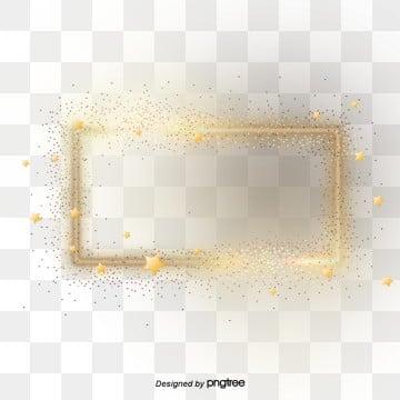 Brilliant Golden Star Border Elements illustration image
