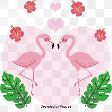 valentines day lovers animal cartoon patterns, Animal Pattern, Lovers, Leaf PNG and PSD