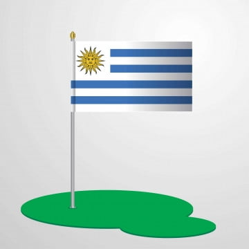 uruguay flag pole, 25, 25th, August PNG and Vector