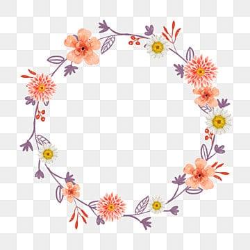 วงกลม ดอกไม้ ลอมด้วยใบ วงกลม สีม่วง สีแดงวงกลม  ดอกไม้  ลอมด้วยใบ PNG และ PSD