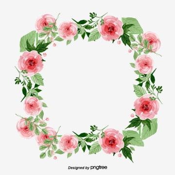 กรอบดอกไม้ สี่เหลี่ยม สีชมพูอ่อน ดอกไม้ พวงหรีดสี่เหลี่ยม สีเขียวกรอบดอกไม้  สี่เหลี่ยม  สีชมพูอ่อน PNG และ PSD