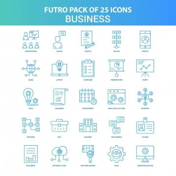 25 green and blue futuro business  icon pack, Appointment, Arrow, Avatar PNG and Vector