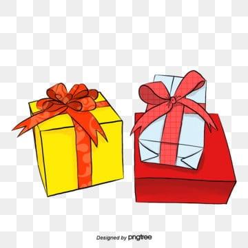 กล่องของขวัญ สามกล่อง สีขาว สีแดง สีเหลืองกล่องของขวัญ  สามกล่อง  สีขาว PNG และ PSD