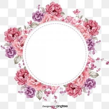 กรอบ วงกลมดอกไม้ใหญ่ กลุ่มดอกไม้ สีม่วง ชมพูกรอบ  วงกลมดอกไม้ใหญ่  กลุ่มดอกไม้ PNG และ PSD