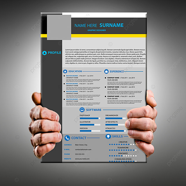 attractive modern resume cv template  resume  cv