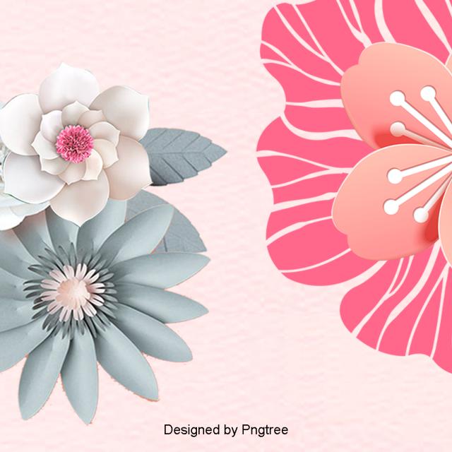 beautiful cartoon chinese wind cut flower flower