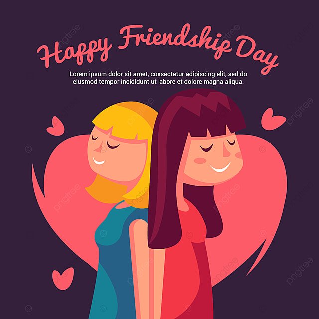 Vector illustration of girls greeting on friendship day wallpaper vector illustration of girls greeting on friendship day wallpaper design illustration png and m4hsunfo