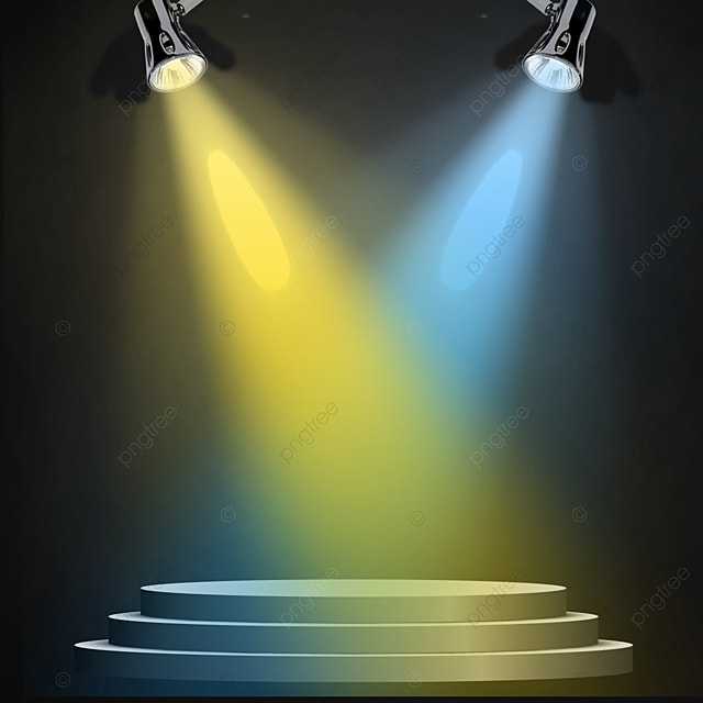 Colorful Stage Spotlight Effect With Stage Surface