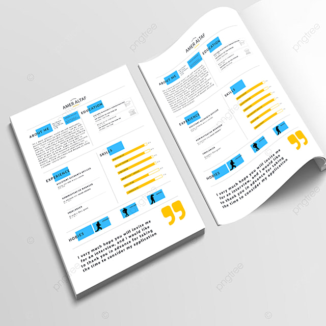 Attractive Modern Resume Cv Template Templates PNG And PSD