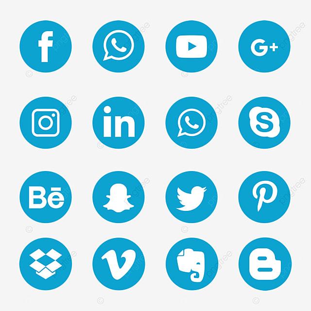 أيقونات وسائل التواصل الاجتماعي الزرقاء الرموز الاجتماعية الأيقونات وسائل الإعلام الرموز الزرقاء Png والمتجهات للتحميل مجانا