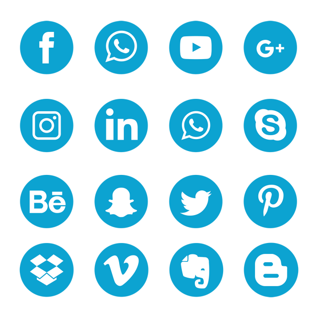 blue social media icons  social media icons  social media  social media logo png and vector with