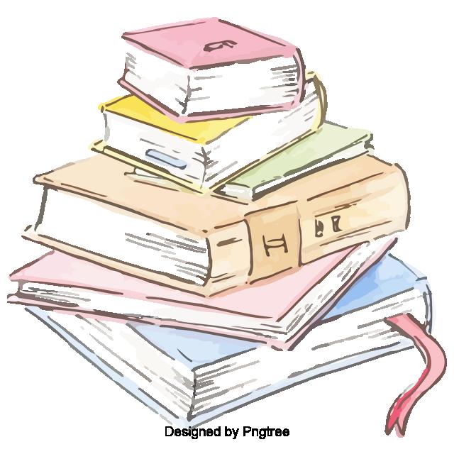 cartoon hand painted school books stationery design cute cartoon