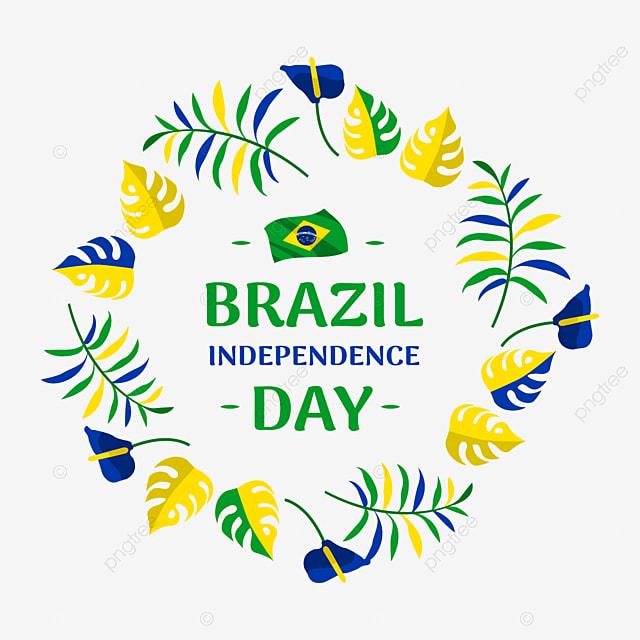 Diseño De Cartel Creativo De Brasil El Día De La Independencia Con ...
