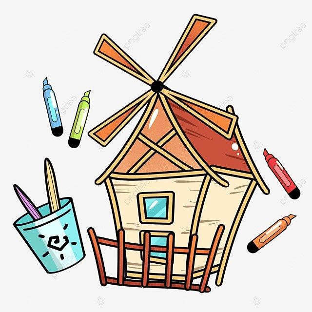design of stationery for cartoon school education cartoon