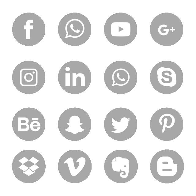 m u00e9dias sociaux logo symbole gris ic u00f4nes ensemble social