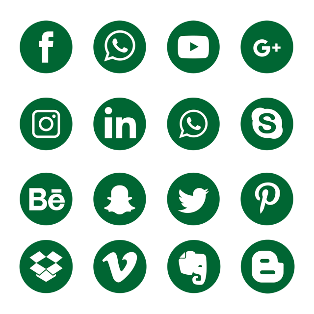 green social media icons  social  media  icon png and vector with transparent background for
