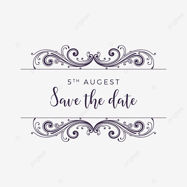 Save The Date Wedding Floral Ornament Wedding Floral: Estilo Vintage Ornamento Vetor Salvar A Data Vintage