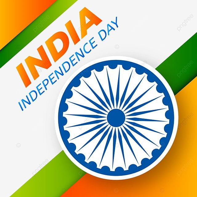 Creative Indian Independence Day Tricolor Abstract Background Flat