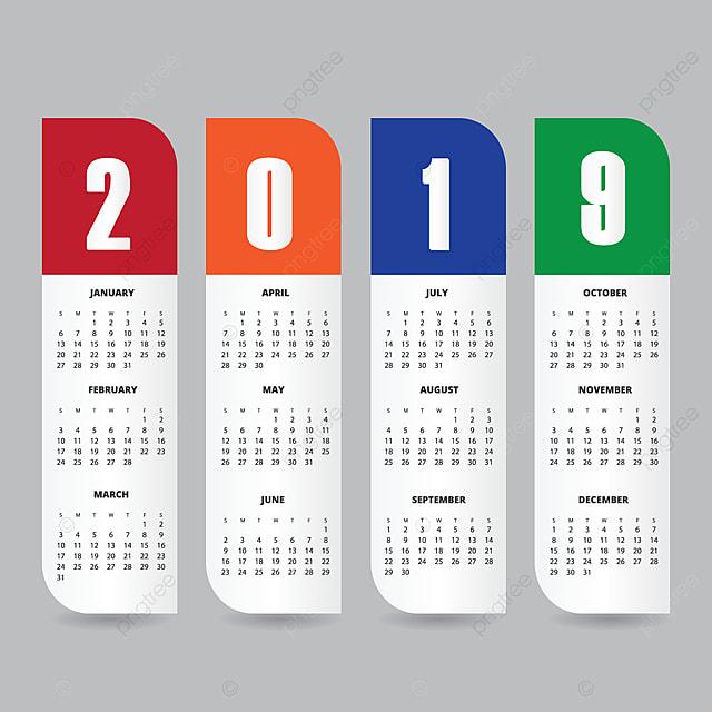 2019 calendar design template ad contexte blue png et