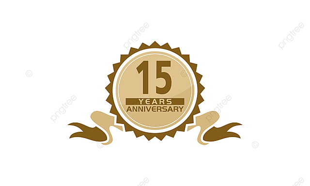 15 Years Ribbon Anniversary Greeting Ceremony Business Png And