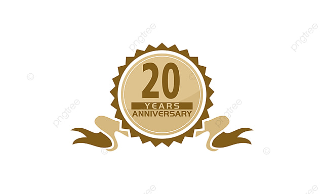 20 Years Ribbon Anniversary Greeting Ceremony Business Png And
