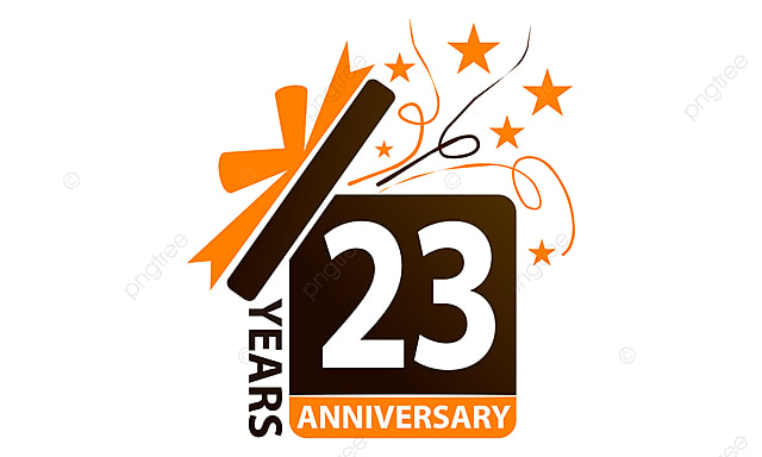 23 ans de bo u00eete cadeau ruban anniversaire signe succ u00e8s