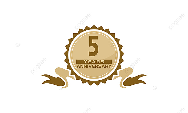 5 Years Ribbon Anniversary Greeting Ceremony Business Png And