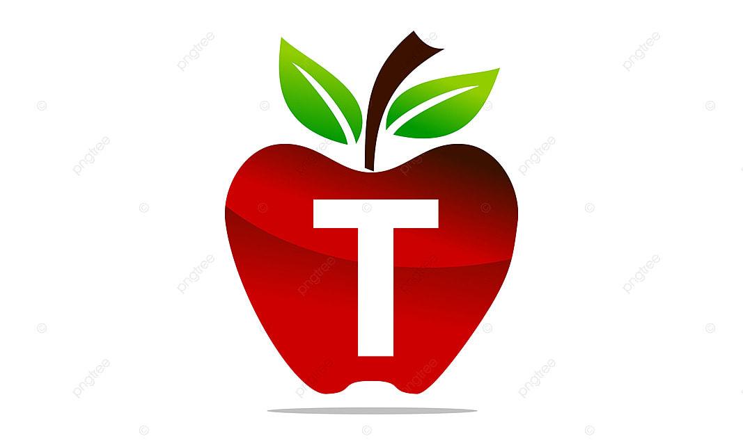 apple letter t logo design template vector, design, eating, food png