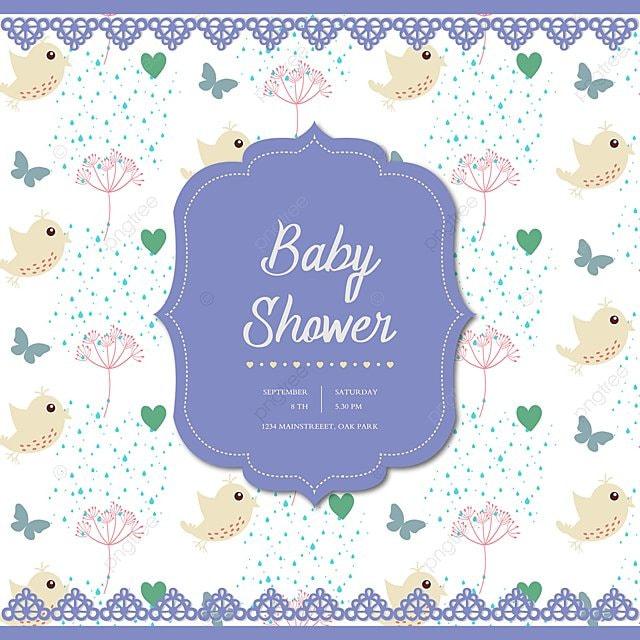 Cute Baby Shower Card Beautiful Drawings Cartoon Png And Vector