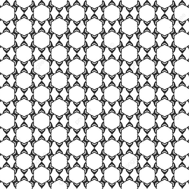 Abstract Geometric Seamless Pattern Repeating Black And White Texture Background