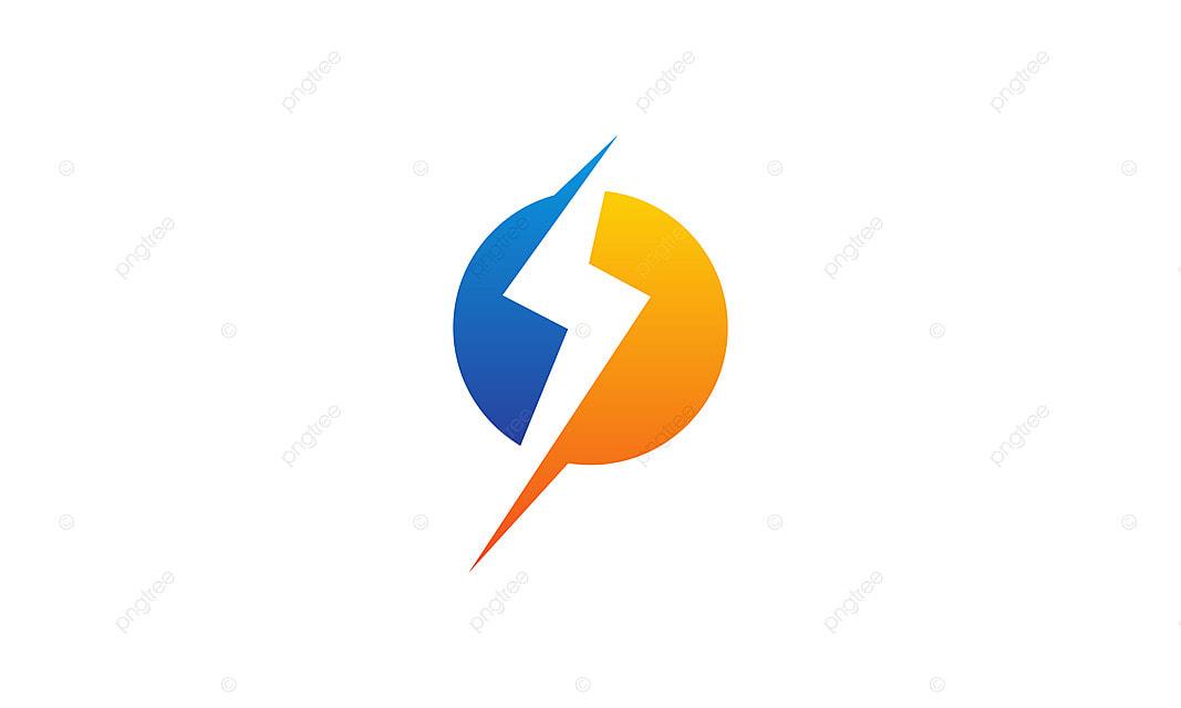 bolt energy logo design template vector bolt brand