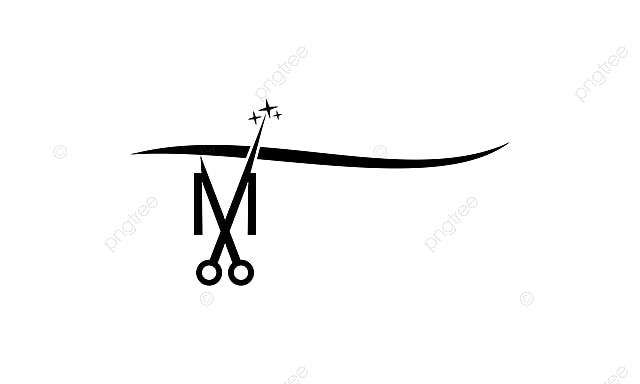 Letter M With Scissor Sign Vector Symbol Png And Vector For Free
