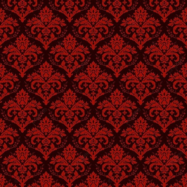 Seamless Luxury Ornamental Background Red Damask Seamless Floral Pattern Abstract Antique Background Png