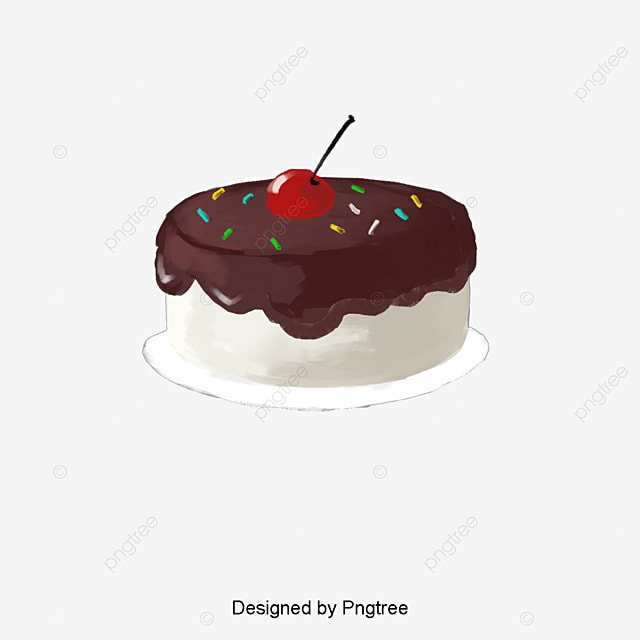 Hand Painted Simple Cake Design Pattern Cartoon Simple Style Fichier