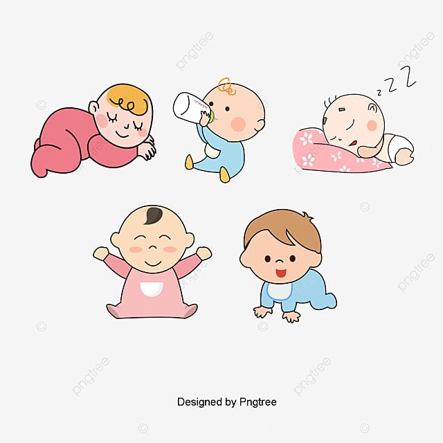 Simple Cartoon Productos De Bebe Patron Lado Del Amanecer Bebe ...