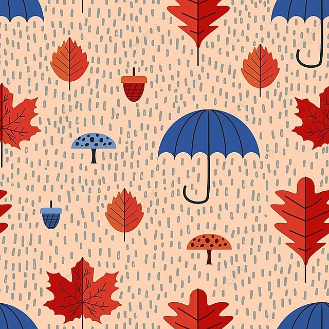 Children Style Pattern Of Cute Autumn Leaves Drawing Yellow Pattern Background Png And Vector With Transparent Background For Free Download