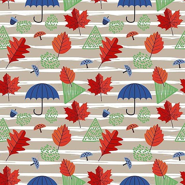 La Mode Des Feuilles Dautomne Avec Un Parapluie Et Couleur