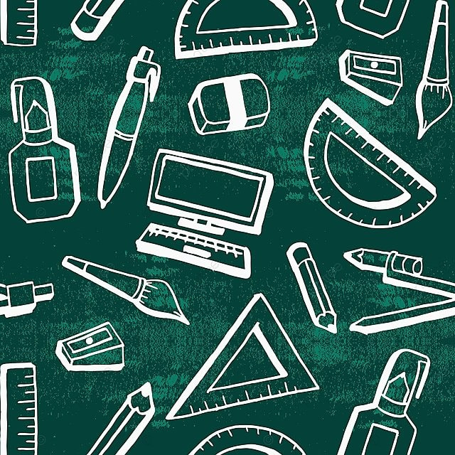 87334bc00a91b hand drawn back to school theme background with creative student lifestyle  objects, Background, Pattern
