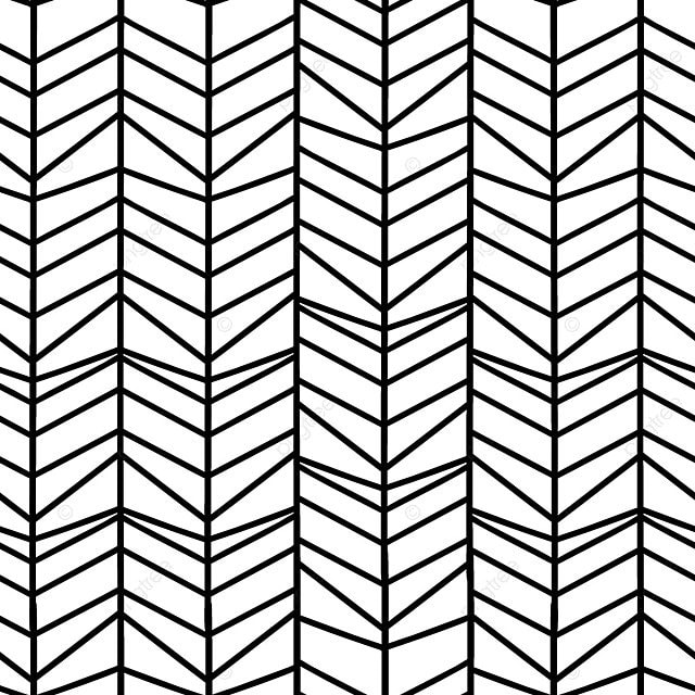 Herringbone Seamless Pattern With Hand Drawn Zigzag Lines Geometric Background Vector Graphic Wallpaper