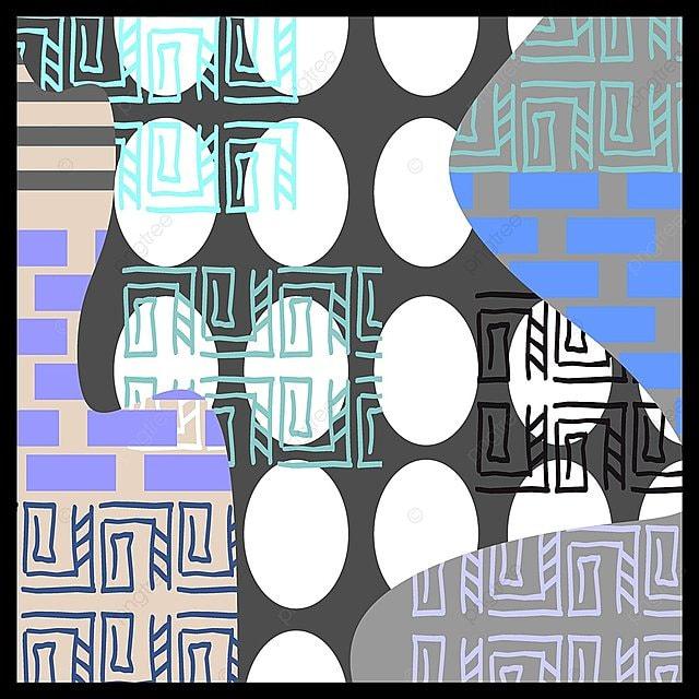 Punchy Pastel Coloré Motif Géométrique Avec La Scandinave