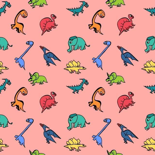シームレスな恐竜ハンドキッドと子供のためのかわいいトレンディを描画