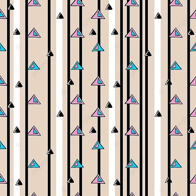 Línea Con Rayas Triangulo Dibujado A Mano Sin Patron Triángulo ...