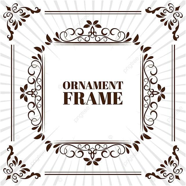 78e91c03dd8 Vector Image Decorative Ornamental Frame
