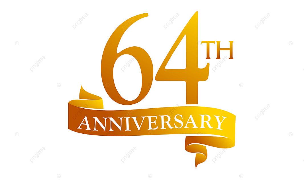 64 an ruban anniversaire 64 l u00e2ge anniversaire png et