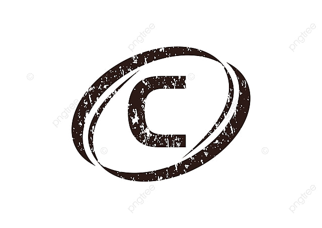 Letter C Rough Logo Rough Template Scattered Png And